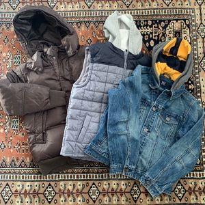 GAP Down puffer jacket denim jacket Gymboree vest